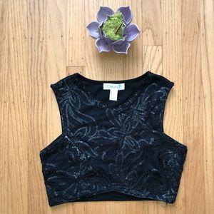 4/ $20 Forever 21 black sequin crop top